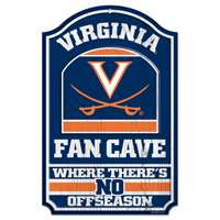 Virginia Cavaliers Fan Cave Wood Sign