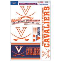Virginia Cavaliers Ultra Decal Set - 11'' X 17''