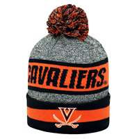 Virginia Cavaliers Top of the World Cumulus Pom Knit Beanie