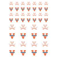 Virginia Cavaliers Small Sticker Sheet - 2 Sheets