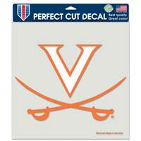 "Virginia Cavaliers Full Color Die Cut Decal - 8"" X 8"""