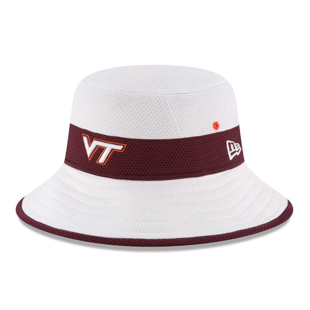 ef4e90b861d Virginia Tech Hokies New Era Training Bucket Hat - White