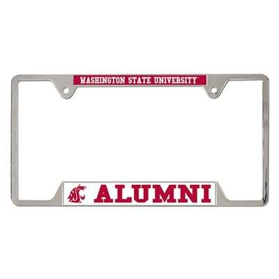 Washington State Cougars Alumni Metal Chrome License Plate
