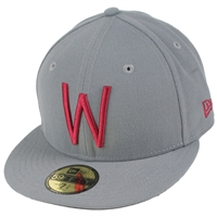 b90ae6cb96878 Washington State Cougars New Era 5950 Fitted Baseball Hat - Grey