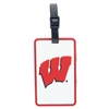 Wisconsin Badgers Soft Luggage/Bag Tag