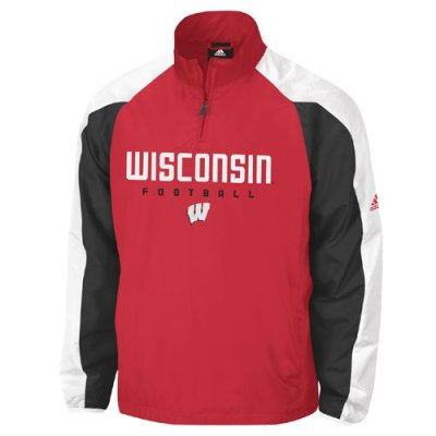 Adidas Wisconsin Badgers Coaches Pullover Jacket
