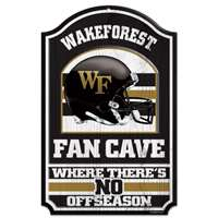 Wake Forest Demon Deacons Fan Cave Wood Sign