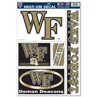 "Wake Forest Demon Deacons Ultra Decal Set 11"" X 17"""