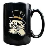 Wake Forest Demon Deacons 15oz Black Ceramic Mug
