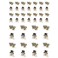 Wake Forest Demon Deacons Small Sticker Sheet - 2 Sheets