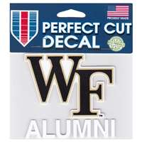Wake Forest Demon Deacons Perfect Cut Decal - Alumni