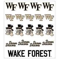 Wake Forest Demon Deacons Multi-Purpose Vinyl Sticker Sheet