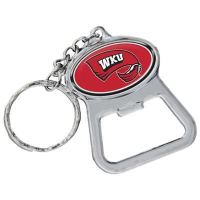Western Kentucky Hilltoppers Metal Key Chain And Bottle Opener W/domed Insert
