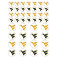 West Virginia Mountaineers Small Sticker Sheet - 2 Sheets