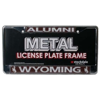 Wyoming Cowboys Alumni Metal License Plate Frame W/domed Insert