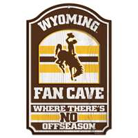 Wyoming Cowboys Fan Cave Wood Sign
