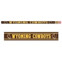 Wyoming Cowboys Pencil - 6-pack