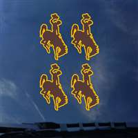 Wyoming Cowboys Transfer Decals - Set of 4