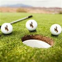 Wyoming Cowboys Golf Balls - Set of 3