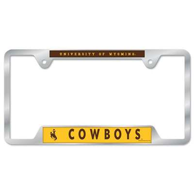Wyoming Cowboys Metal Chrome License Plate Frame