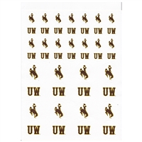 Wyoming Cowboys Small Sticker Sheet - 2 Sheets