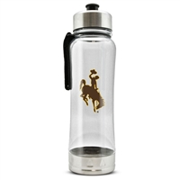 Wyoming Cowboys Clip-On Water Bottle - 16 oz