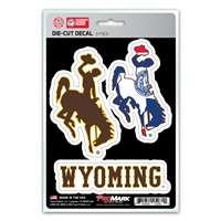 Wyoming Cowboys Decals - 3 Pack