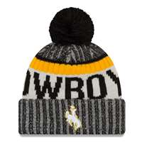 Wyoming Cowboys Youth New Era Sport Knit Beanie