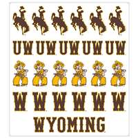 Wyoming Cowboys Multi-Purpose Vinyl Sticker Sheet