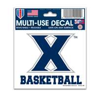 "Xavier Musketeers Decal 3"" X 4"" - Basketball"