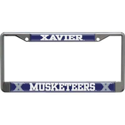 Xavier Musketeers Metal License Plate Frame w/Domed Acrylic